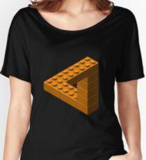 Escher Toy Bricks - Orange Women's Relaxed Fit T-Shirt