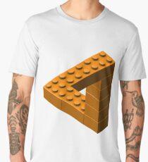 Escher Toy Bricks - Orange Men's Premium T-Shirt