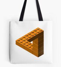 Escher Toy Bricks - Orange Tote Bag