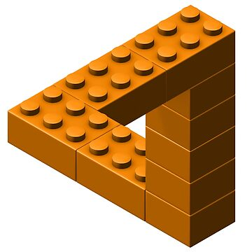 Escher Toy Bricks - Orange by chwatson