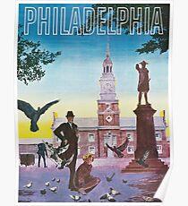 Philadelphia, Independence Hall; Vintage Travel Poster Poster