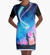 Beneath the Stars Graphic T-Shirt Dress