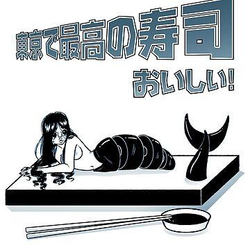 Best sushi in Tokyo - Black by LabRatBiatch