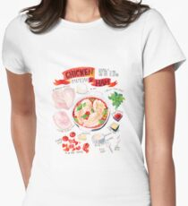 Chicken and Ham Delight Women's Fitted T-Shirt