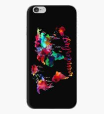 Watercolor Wanderlust World Map  iPhone Case