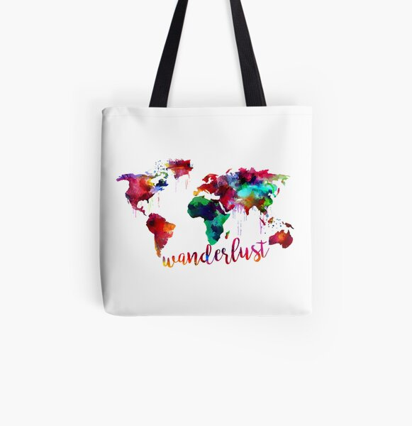 World Map Tote Floral Map Tote Bag Canvas Tote Floral Tote Travel Bag world travel adventure globe tote wanderlust travel bag shopping tote