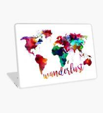 Watercolor Wanderlust World Map  Laptop Skin