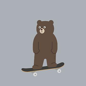unBEARable Skateboard (Brown) by 73553