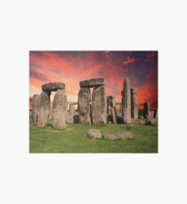 STONEHENGE Pop Art Art Board