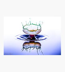 Water droplet Collision  Photographic Print