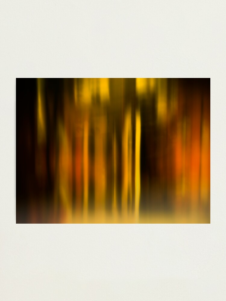 Alternate view of blurred landscape Photographic Print