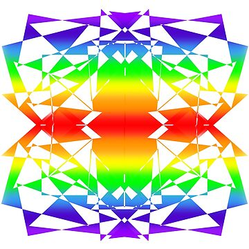 Rainbow Kaleidoscope by parakeetart