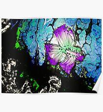 Purple Emerald Tropical Fish Poster