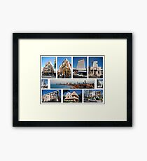 Israel, Tel Aviv, Collage of Architecture  Framed Print