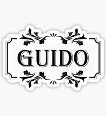 Frame Name Guido Sticker