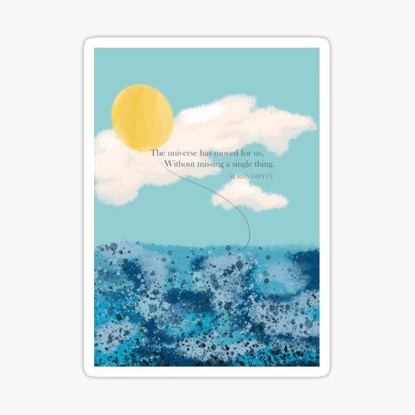 BTS Jimin Serendipity Lyrics (ENG ver.) Sticker