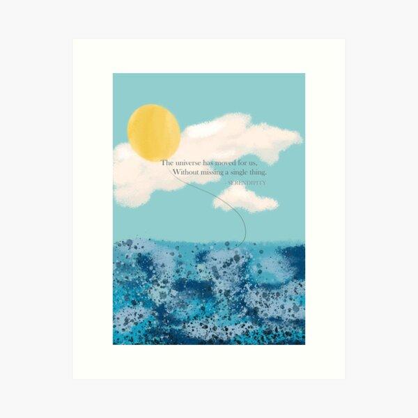 BTS Jimin Serendipity Lyrics (ENG ver.) Art Print