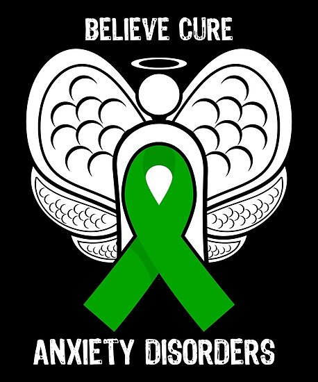Believe Cure Anxiety Disorders Mental Health Awareness Ribbon Butterfly By CreativeStrike