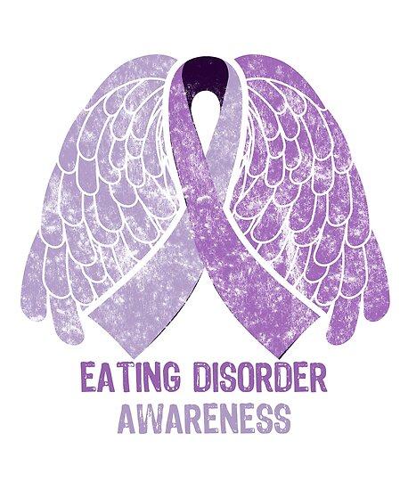 Eating Disorder Awareness Ribbon Butterfly Vintage Mental Health