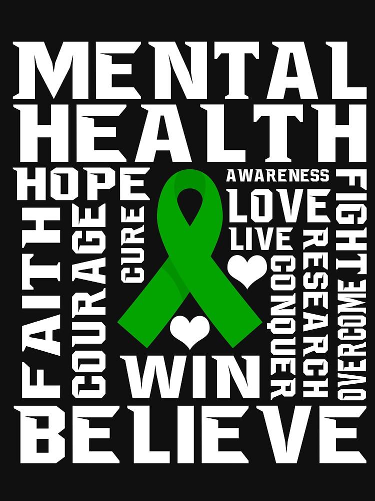 """Mental Health Awareness Green Ribbon Inspirational ..."