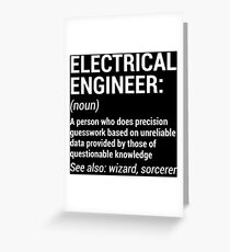 Funny Electrical Engineer Engineering T-Shirt Greeting Card