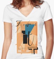 Figure it Out Women's Fitted V-Neck T-Shirt