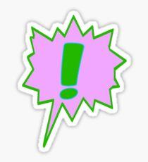 EXCLAMATION MARK SCREAMER BANG, Sticker