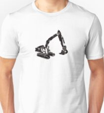 Digger Construction Funny Cute Backhoe Bulldozer Black Unisex T-Shirt