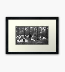 Yankee camp Framed Print