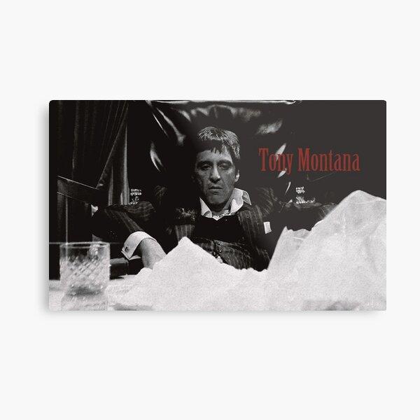 Tony Montana Scarface Lámina metálica