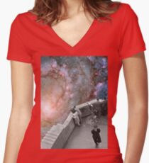 Messier 83 Women's Fitted V-Neck T-Shirt