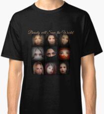 Beautiful Women Faces Photography Classic T-Shirt
