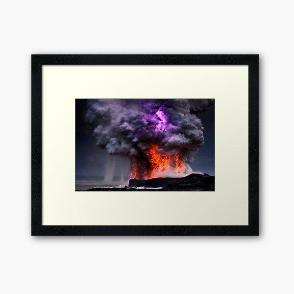 Kilauea Volcano at Kalapana 5 Framed Art Print