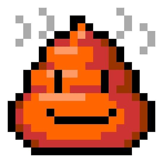 Pixel Smiley Poop Poster By Tinybiscuits