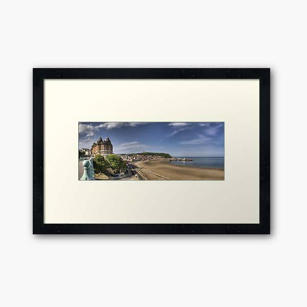 Scarborough Panorama Framed Art Print