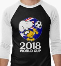 Snoopy Australia World Cup 2018 Men's Baseball ¾ T-Shirt