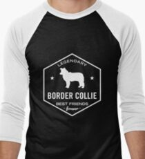Legendary Border Collie best friends forever Men's Baseball ¾ T-Shirt