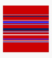 Colorful Stripes on Red Photographic Print