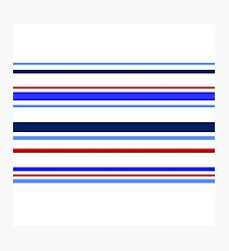 Colorful Stripes on White Photographic Print