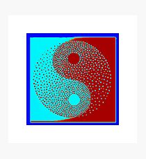 Ying-Yang symbol, Meaning every action has a opposite reaction , It applies to ones life for ,as the force of nature,and moral desitions   Photographic Print