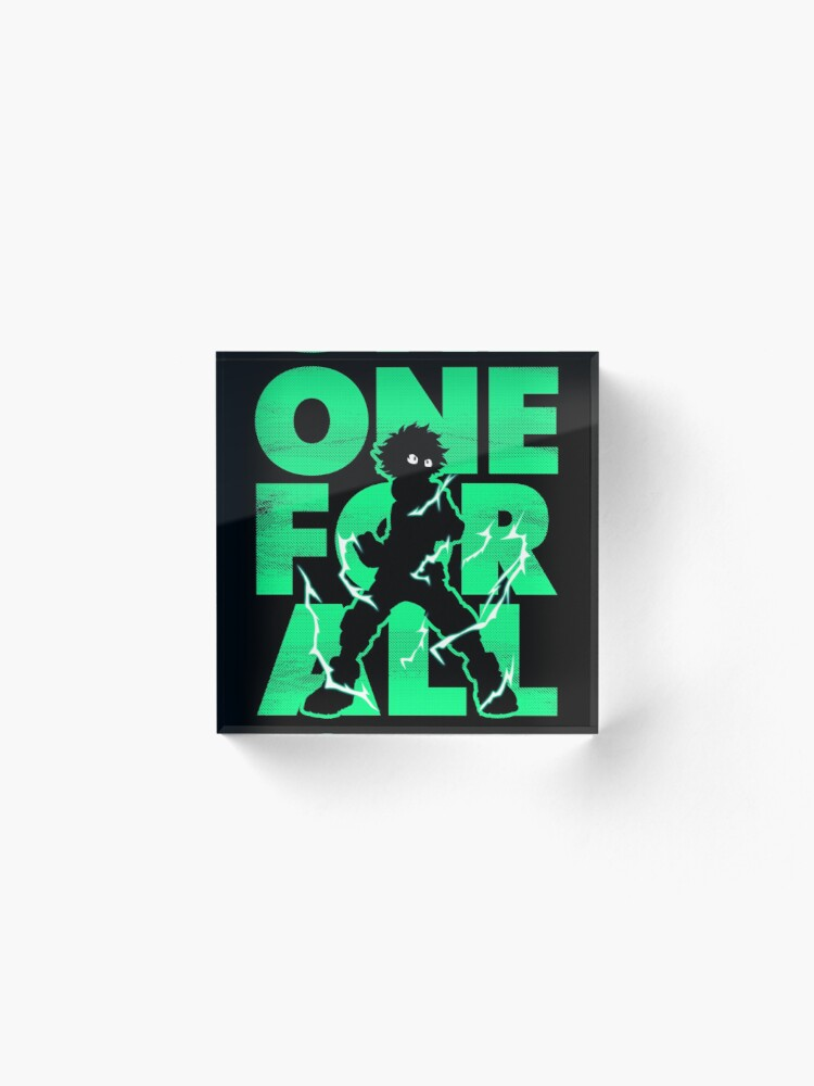 Alternate view of One for all Deku Acrylic Block