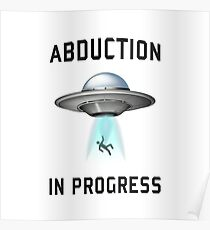Abduction in Progress | UFO Art Poster