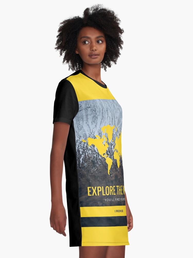 Robe t-shirt ''Explore the world': autre vue