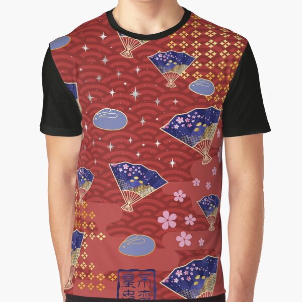 Asian Fans Moon Bunny - Red Graphic T-Shirt