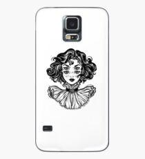 Gotisches Hexemädchen-Kopfporträt mit dem gelockten Haar und vier Augen. Hülle & Skin für Samsung Galaxy