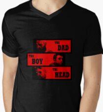 Dad, Boy and Head Men's V-Neck T-Shirt