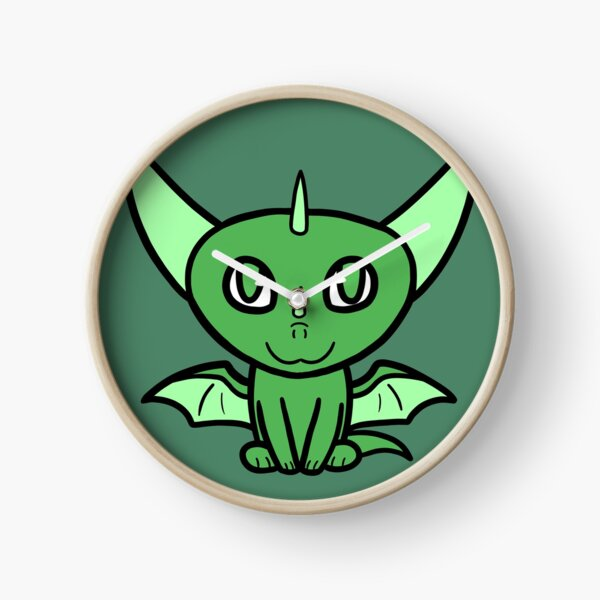 Dragon Chibi (Light Green) Clock