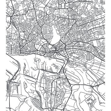 Vector poster city map Hamburg by maximgertsen