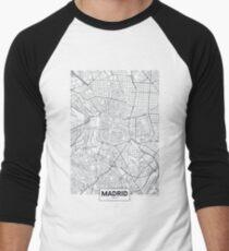 Vector poster city map Madrid Men's Baseball ¾ T-Shirt