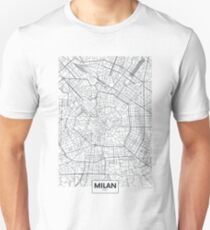 Vector poster city map Milan Unisex T-Shirt